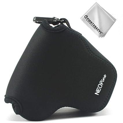 Negro Funda Cámara Reflex Neopreno Protectora para Canon EOS M200 ...