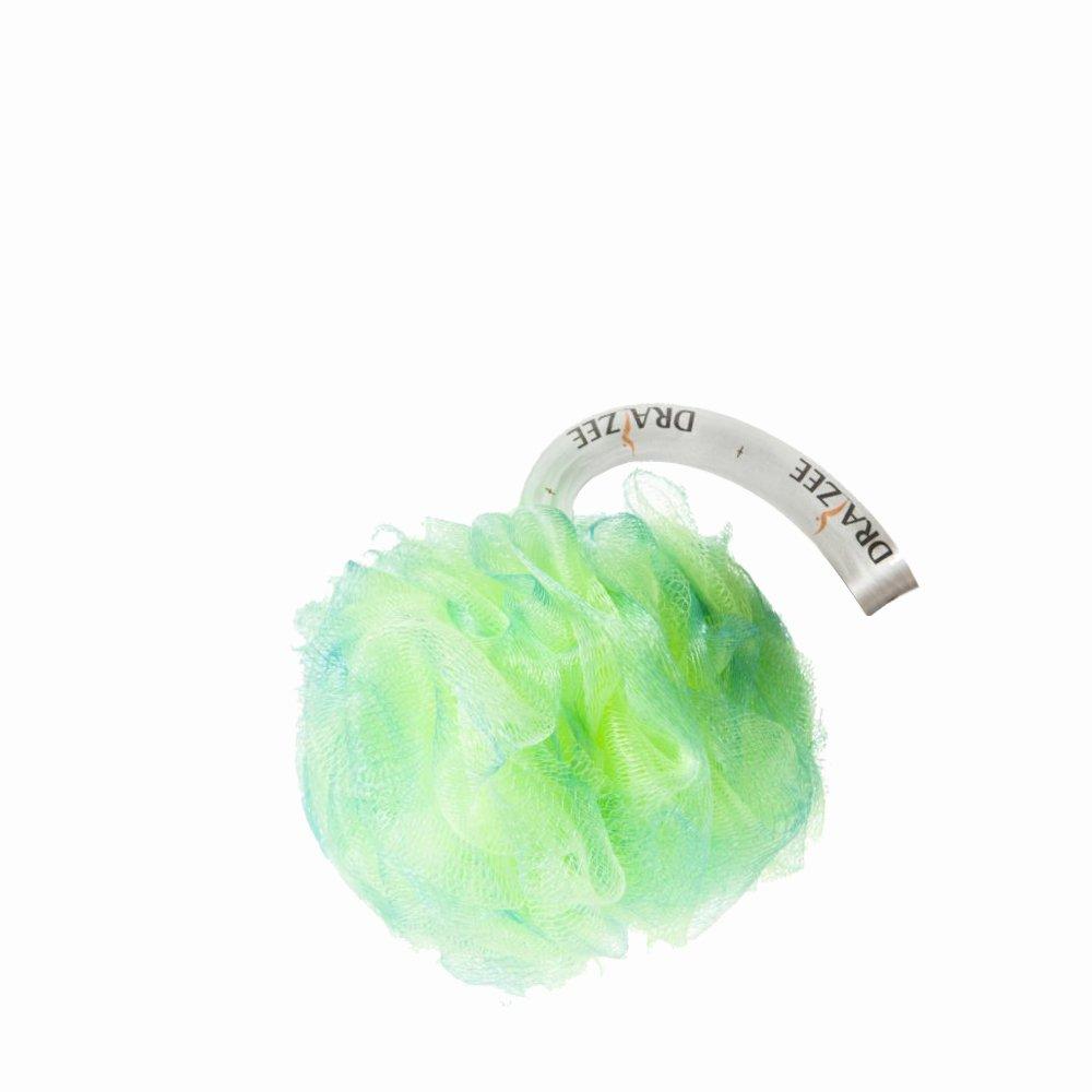 Draizee 5-inch Exfoliating Mesh Pouf Shower Sponge green