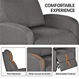 Yaheetech Fabric Recliner Sofa Modern Single