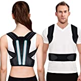 Posture Corrector for Men, Women and Kids, Kungfuren Adjustable and Breathable Back Brace with 2 Removable Rails for Improve Posture and Provide Lumbar Support, Suitable for Waistline 31.5'-41.7'(L)