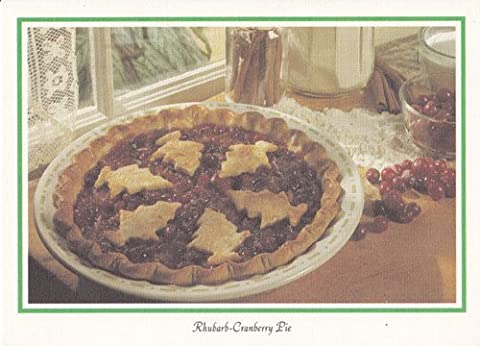 Greeting Card Holiday Recipe Inside Rhubarb Cranberry Pie - Cranberry Recipes