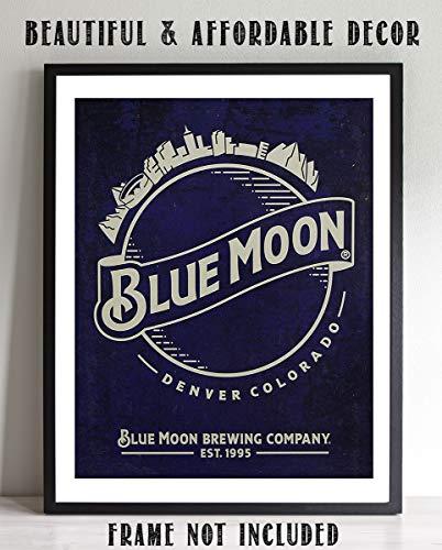 - Blue Moon Beer- Vintage Logo Sign Print-