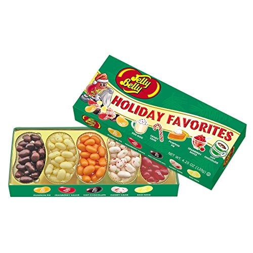 Jelly Belly Holiday Favorites Jelly Beans Gift Box, Assorted Holiday Flavors, 4.25-oz, 12 Pack (Eggnog Jelly Beans)