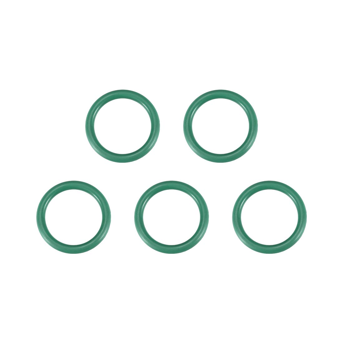 Green Pack of 5 uxcell Fluorine Rubber O-Rings 33mm OD 26.8mm ID 3.1mm Width FKM Seal Gasket for Vehicle Machinery Plumbing