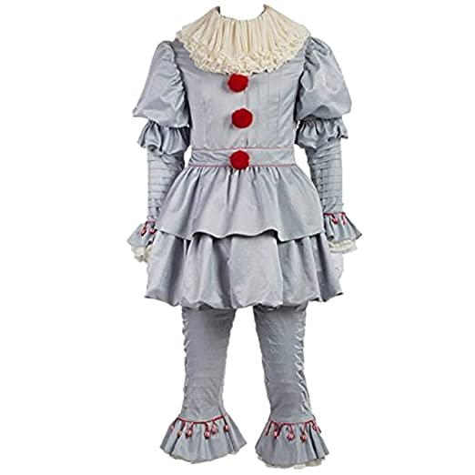Halloween Costumes 2019 Adults.Amazon Com Scary Clown Costume Deluxe Movie Cosplay Halloween