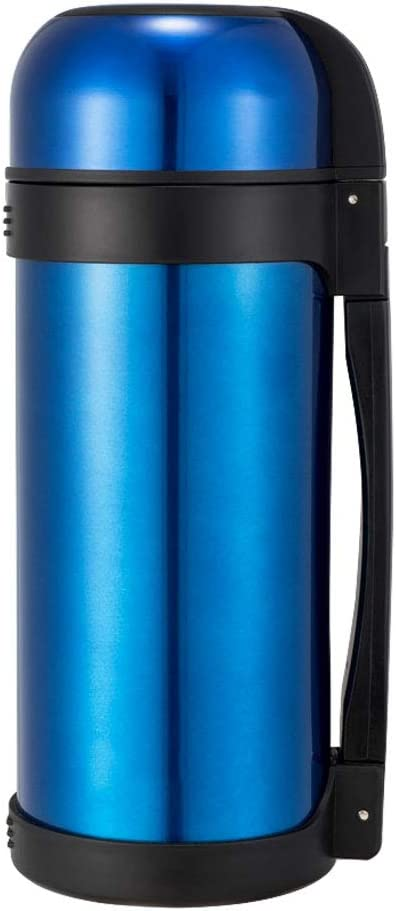 B07S3TPZL4 MGE UPS Systems 1.2L Vacuum Insulated Jug,Stainless Steel Double Walled Tea Water Coffee Jug Insulation Pot Outdoor Car Load Hiking (Color : Blue) 51ryRAN4hCL