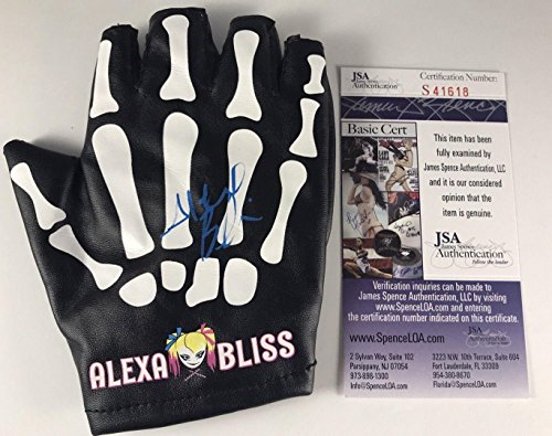 ALEXA BLISS signed GLOVE Little Miss Bliss Champion