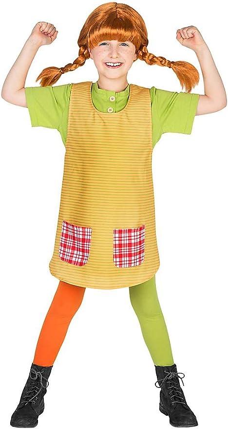 Maskworld Pippi Longstocking Fancy Dress Childrens Costume (5-6 ...