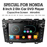 hizpo 8 Inch for Honda CRV CR-V 2007 2008 2009 2010 2011 in Dash HD Touch Screen Car DVD Player GPS Navigation Stereo Bluetooth/SD/USB/Mirrorlink/FM/AM Radio/3G/AV-IN/1080P North America Map Review