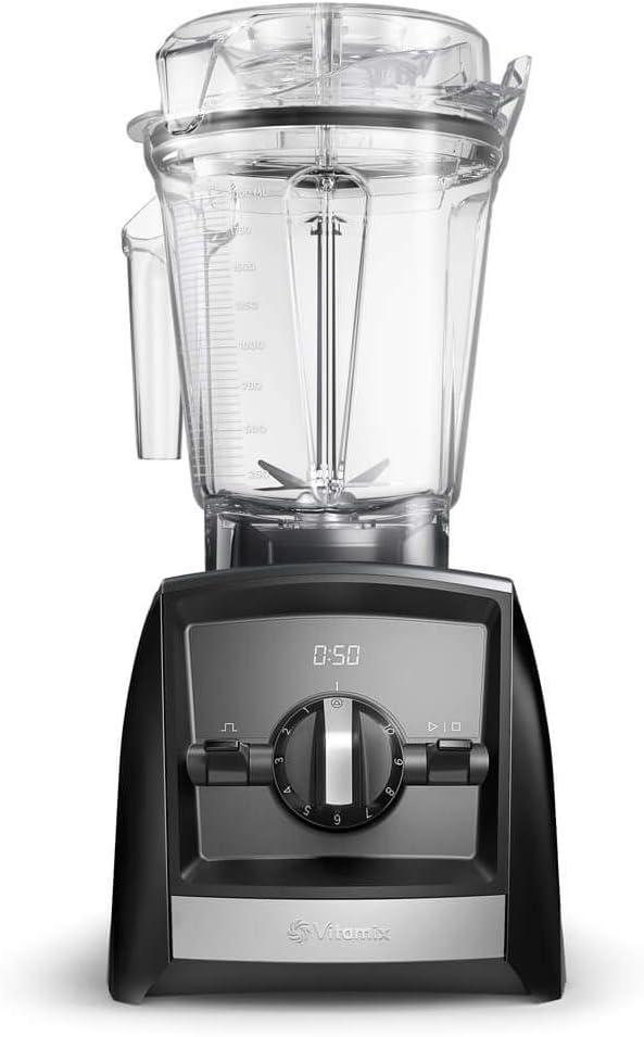 Vitamix Ascent 2300i Batidora vaso, 1400 W, 2 litros, Libre BPA, Negro