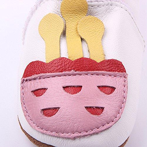Vesi-Zapatos para bebé Primeros Pasos Zapatillas Infantiles para Niño/Niña Antideslizante Respirable Corazón Talla M:6-9 Meses Medusa