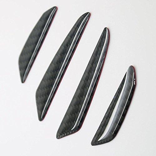 Generic Real Carbon Fiber Car Side Door Edge Protection Guard Trim Sticker Universal Fit For Audi A1 A3 A4 A5 A6 A7 A8 Q3 Q5 Q7 TT R8 RS