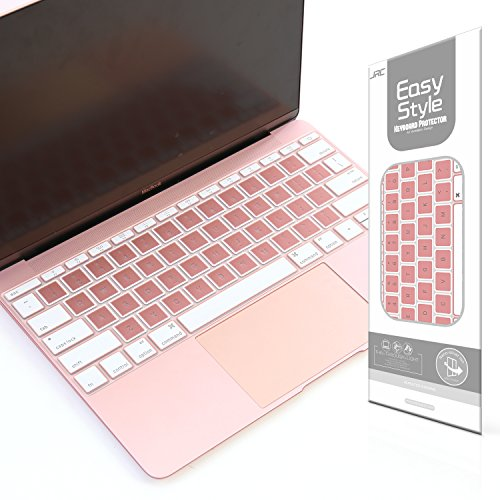 Rose Gold Ultra Thin Keyboard Cover for MacBook Pro 13 Inch Without Touch Bar and MacBook 12 Inch Keyboard Skin, US Layout