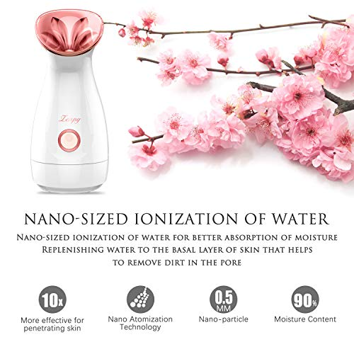 Zenpy Nano Ionic Facial Steamer Warm Mist Humidifier