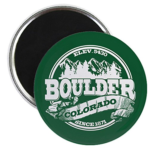CafePress - Boulder Old Circle Magnet - 2.25