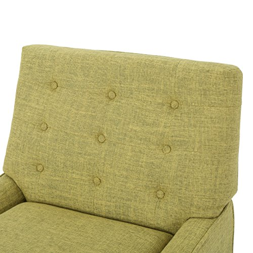 Christopher Knight Home 301885 Eilidh Buttoned Mid Century Modern Muted Green Fabric Chair, - 5
