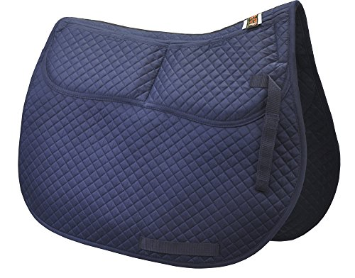 Mattes Saddle Pads (ECP Equine Comfort Products ECP Cotton Correction All Purpose Saddle Pad (Navy Blue))