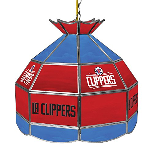 Nba Clippers Lamp - NBA Los Angeles Clippers Tiffany Gameroom Lamp, 16