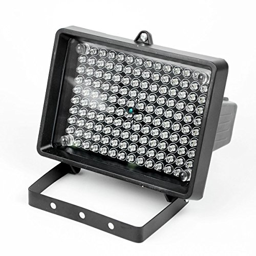 140 LED Illuminator Light Night Vision Ir Infrared with Adapter for Outdoor 18w