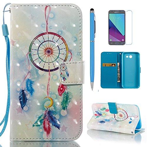 - mellonlu Galaxy J3 Emerge Case, Galaxy J3 Prime Case, J3 Luna Pro Case, Galaxy J3 2017/J3 Mission/J3 Eclipse/Sol 2/Amp Prime 2/Express Prime 2 Case, Wallet Flip Leather Case for J3 2017