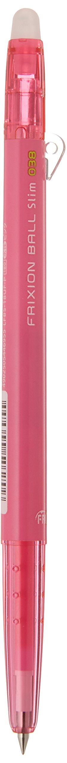 Pilot Frixion Ball Slim 038 Ballpoint Pen, Pink (LFBS-18UFP)