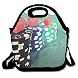 Business Poker Lunch Tote Bag With Strap For Kids And Adult For Men Women Boys Girl