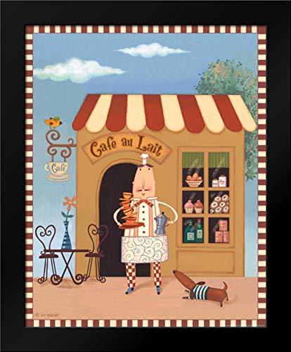 Chef 6 Cafe Au Lait Framed Art Print by Eisner, Viv