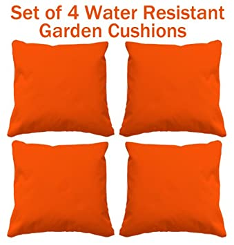 Water Resistant Cushions, Set Of 4 Garden Cushions, 4 Funky Outdoor Cushions  Perfect For