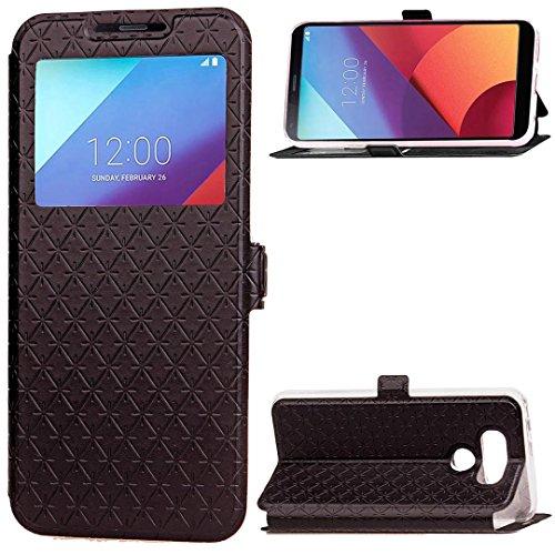 [해외]LG 전자 G6 들어 Nesee 새로운 패션 럭셔리 플립 창보기 가죽 케이스 커버 홀더 스탠드/Nesee New Fashion Luxury Flip Window View Leather Case Cover Holder