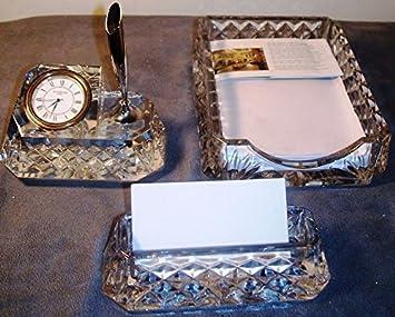 Amazon Com Waterford Crystal Westover Executive Desk Set