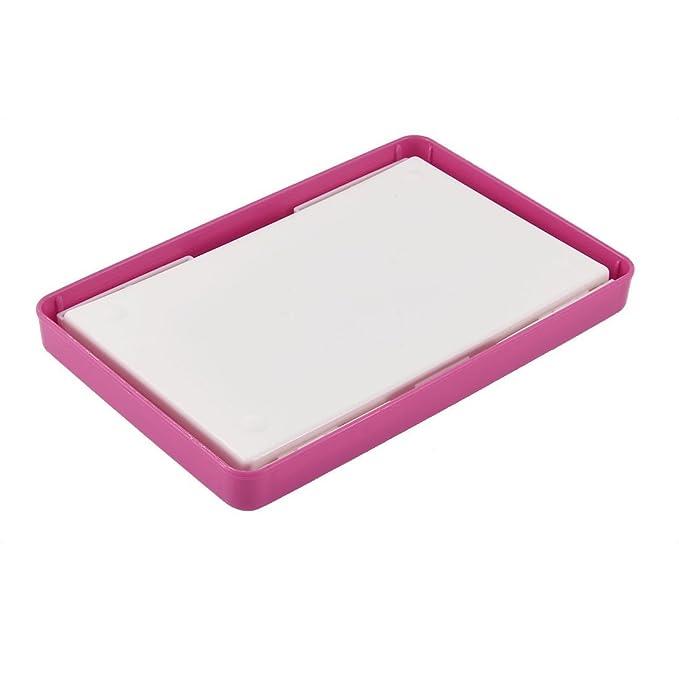 Amazon.com: eDealMax turística rectángulo libro Carta de maquillaje organizador de la joyería de almacenamiento caja de color rosa: Kitchen & Dining