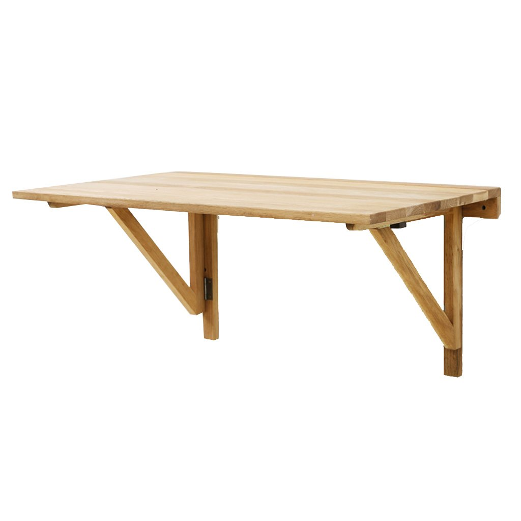 現代のシンプルさ折りたたみ可能なソリッドウッドデスク便利な壁掛け式80cm多機能オークダイニングテーブル B07B3Q14W4