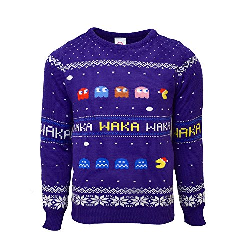 Pac-Man Official Christmas Jumper/Ugly Sweater - UK L/US M]()