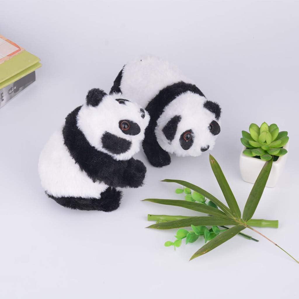 Walking Liberty Imports Plush Panda Pet Electronic Toy Turn Around Make Sounds for Kids