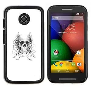 EJOOY---Cubierta de la caja de protección para la piel dura ** Motorola Moto E ** --Astado Medusa cráneo