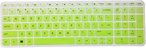 Leze - Ultra Thin Silicone Keyboard Cover Skin Protector for 15.6 Inch HP ENVY X360 m6-w,ENVY m7-n,m7-u,Pavilion 15-ab 15-ac 15-af 15-as 15-au 15-ay 15-ak 15t-ae 15-ba 15-bc Semi - Gradual Green