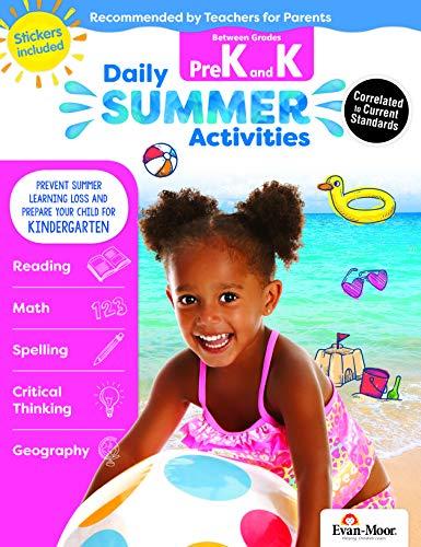 Evan-Moor Daily Summer Activities, Between Pre-K and Kindergarten Activity Book; Summer Learning Workbook for ()
