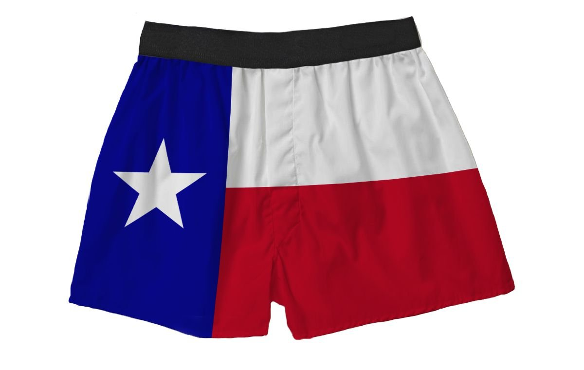 Texas Flag Silky Boxer Shorts Gifts for Men Dad Husband Brother