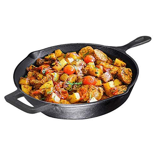 Bruntmor Pre-Seasoned 12 inch Cast Iron Skillet Only $16.88