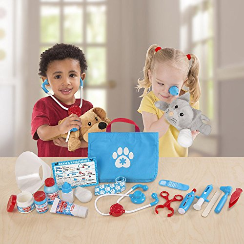 Melissa & Doug Examine and Treat Pet Vet Play Set (24 pcs)