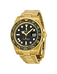 Rolex GMT Master II 18K Yellow Gold Rolex Oyster Automatic Mens Watch 116718BKSO