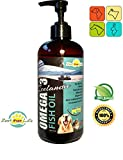 All Natural Omega 3 Fish Oil For Dogs Pets Omega 3 for Dogs Fatty Acids Supplement Treat for Healthy Heart, Joints, Shedding, Itchy Dry Skin, Allergies for Your Dog, Cat, Horse, Rabbit 16oz Liquid