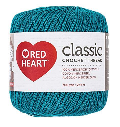 (RED HEART 144.0856 Classic Crochet Thread, Peacock)