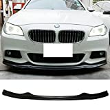 Front Bumper Lip Fits 2011-2016 BMW F10 5 Series| AK Style PU Front Lip Finisher Under Chin Spoiler Add On by IKON MOTORSPORTS | 2012 2013 2014 2015