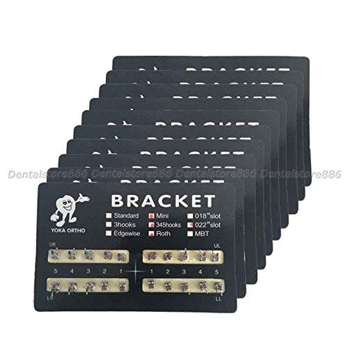 Sale!!10 Packs Dental Orthodontics Brackets Braces Mini Roth.022 Hooks 3-4-5