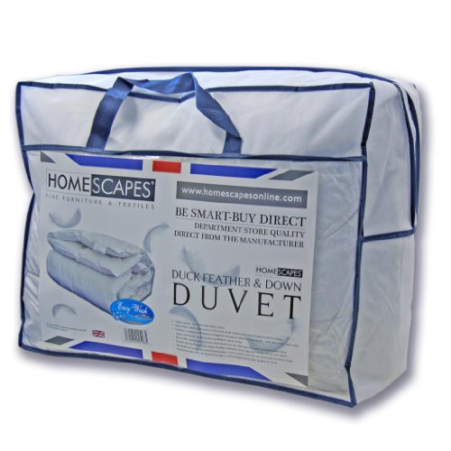 Homescapes Couette Hiver Duvet et plumes de Canard 135 x 200 cm 13.5 Tog