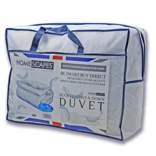 Homescapes warme Premium Winter Bettdecke 135x200 cm Steppdecke Wärmeklasse 5 Entenfedern und Daunen