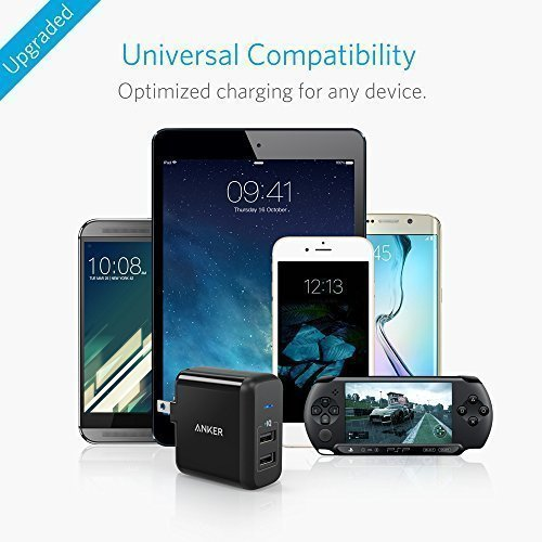Anker-24W-Dual-USB-Wall-Charger-PowerPort-2-with-Foldable-Plug-for-iPhone-SE-6s-6-6-Plus-iPad-Air-2-Pro-mini-3-Galaxy-S7-S7-Edge-S6-S6-Edge-Edge-Note-5-LG-G5-and-More
