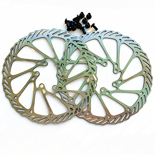 Bolt Flange 6 - Catazer Bicycle Mountain Bike Threaded Hubs Disk Disc Brake Rotor 6 Bolt Flange Adapter 140/160/180/203mm G3 HS1 R9 Rotor (01, 203mm)