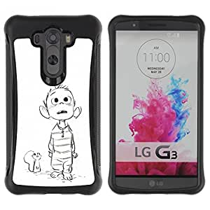 Suave TPU GEL Carcasa Funda Silicona Blando Estuche Caso de protección (para) LG G3 / CECELL Phone case / / mouse drawing white sketch boy movie /